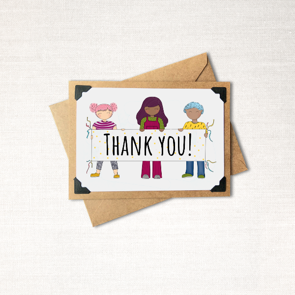 Thank You Banner Note Card