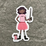 Tutu and Sword Sticker