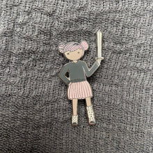 Load image into Gallery viewer, Pink Tutu and Sword Enamel Pin