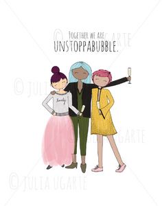 Together we are Unstoppabubble Note Card