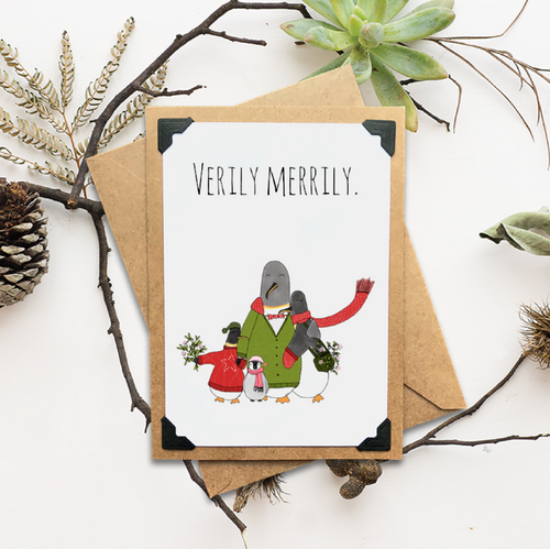 Verily Merrily Holiday Card