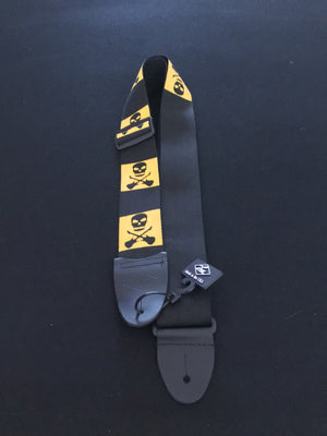 "LM 2"" Adjustable Guitar Strap, Skull & Crossbones"