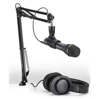 Audio-Technica AT2005USB Streaming/Podcasting Microphone Pack with ATH-M20x Headphones, Boom and Mic