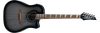 Ibanez ALT30TCB Acoustic-Electric Guitar, High-Gloss Charcoal on Woodgrain