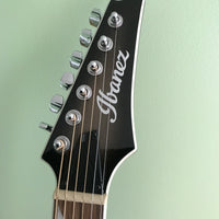 Ibanez Altstar ALT30TCB Acoustic-Electric Guitar, High-Gloss Charcoal on Woodgrain
