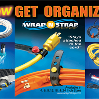 "WrapNStrap 6"" Cord & Cable Organizer, Set of Six"