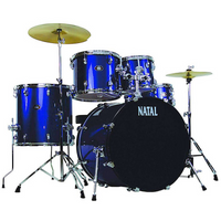 Natal 5 Piece DNA UF22 Starter Drum Set/Kit, Blue