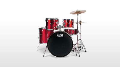 Natal 5 Piece DNA UF22 Starter Drum Set/Kit, Red