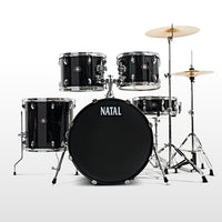 Natal 5 Piece DNA UF22 Starter Drum Set/Kit, Black
