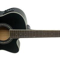 Washburn Festival EA12 Mini Jumbo Acoustic-Electric Guitar, Black