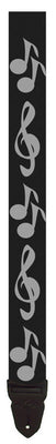 "LM PS4 2"" Adjustable Guitar Strap, Music Notes"