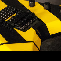 Washburn Parallaxe V26FR Michael Sweet Electric Guitar, Black & Yellow