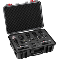 sE Electronics V PACK ARENA 7-Piece Drum Microphone Kit, Includes V KICK, 3x V Beat, 2x SE8, V7 X Microphone and Case