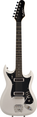 Hagstrom  Retroscape Series H-II Electric Guitar, White Gloss with FREE Hardshell Case