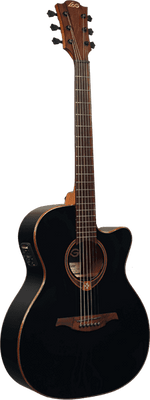 Lâg Guitars T118ASCE Tramontane Auditorium Acoustic-Electric Guitar, Black