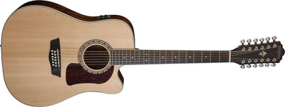 Washburn HD10SCE12 Heritage 12-String Acoustic-Electric Guitar, Solid Spruce & Mahogany