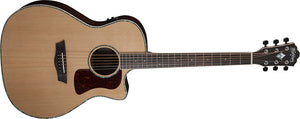Washburn G26SCE Heritage Grand Auditorium Acoustic Electric Guitar, Natural