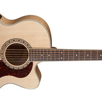 Washburn HJ40SCE Heritage Jumbo Acoustic-Electric Guitar, Natural