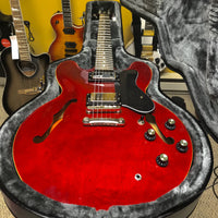 Used 2016 Epiphone Dot Semi-Hollowbody Guitar, Mint Condition, Cherry