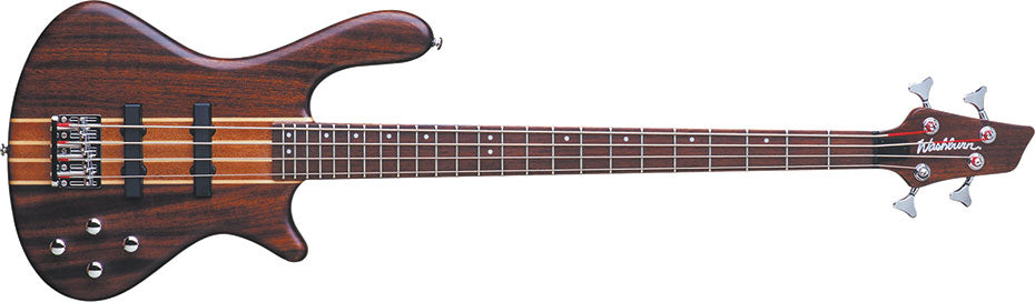 Washburn Taurus T24 Electric Bass Guitar with FREE Gig Bag, Natural Matte