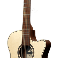 LÂG Guitar T270ASCE Tramontane Auditorium Slim Cutaway Acoustic-Electric