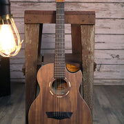 Washburn Comfort G-MINI 55 KOA Acoustic Guitar with Gig Bag, Natural