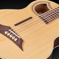 Warwick Alien Deluxe Thinline 5-String Acoustic-Electric Bass Guitar, Natural HP
