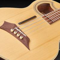 Warwick - Alien Deluxe Thinline 4-String Acoustic-Electric Bass Guitar, Natural