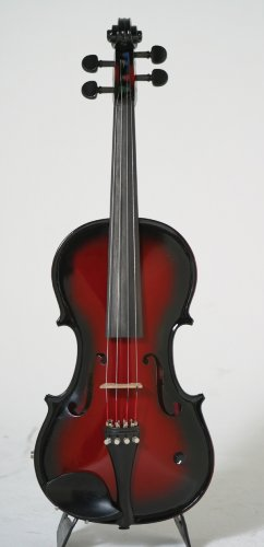 Barcus Berry BAR-AEVR-U Acoustic-Electric Violin, Red