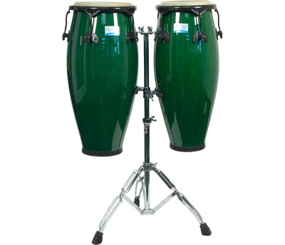 Rhythm Tech RT5505-U Eclipse Conga Set with Stand Percussion Sound Effects, Green