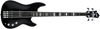 Hagstrom SUSWEB-BLK-U Super Swede 4-String Electric Bass Guitar, Gloss Black
