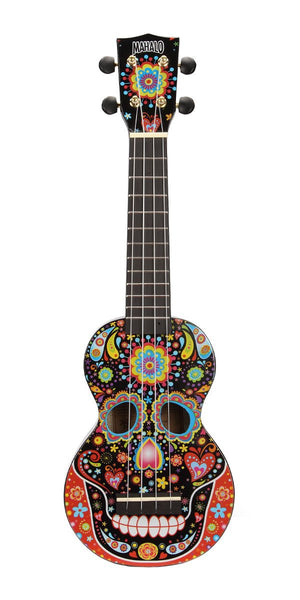 Mahalo Art Series Soprano Ukulele, Day Of The Dead Skull