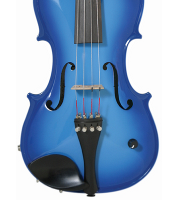 Barcus Berry Vibrato-AE Series Acoustic-Electric Violin, Blue