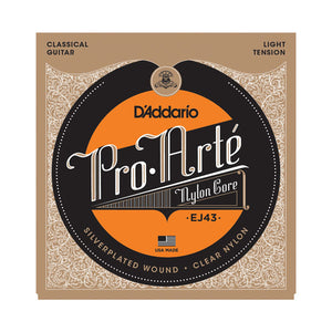 D'Addario Pro Arte Nylon Core EJ43, Light Tension Strings