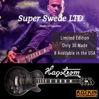 Hagstrom #28 of 30 Limited Edition LTD Super Swede Electric Guitar with Hagstrom Hard Shell Case, Cosmic Black Burst