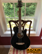 JB Player EA35 Acoustic-Electric Guitar, Black