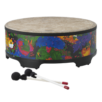 "Remo Kids Percussion® Gathering Drum, 16"" Fabric Rain Forest"