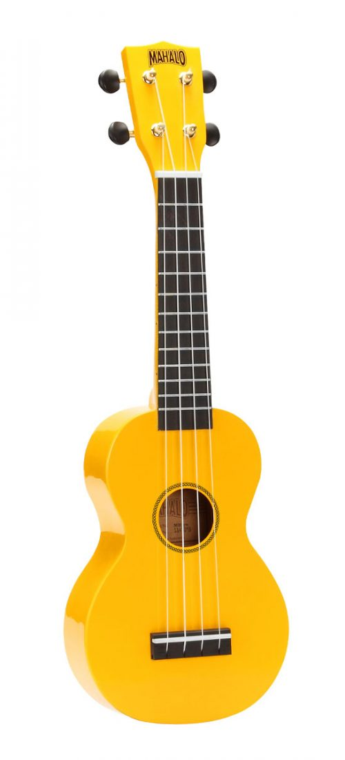 Mahalo Rainbow Series Soprano with Carry Bag, Yellow