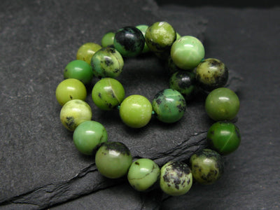 Chrysoprase Genuine Bracelet ~ 7 Inches ~ 8mm Round Beads