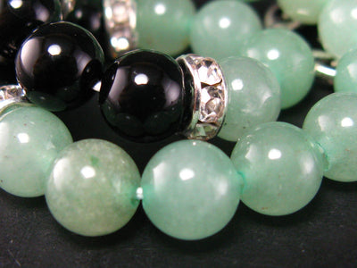Green Aventurine and Black Onyx Bracelet - 8mm