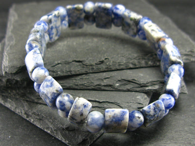 Sodalite Genuine Bracelet ~ 7 Inches ~ Mixed Beads