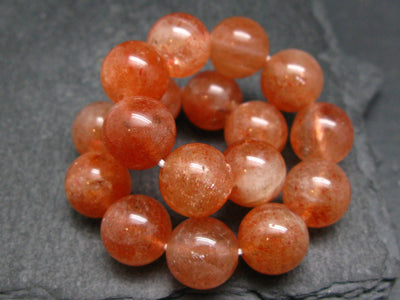 Sunstone AAA Grade Genuine Bracelet ~ 7 Inches ~ 12mm Round Beads