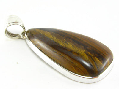 Tiger Eye Sterling Silver 925 Pendant - 2.0""