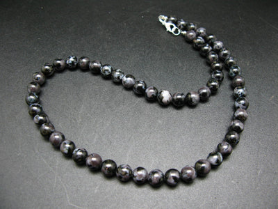 "Mystic Merlinite Necklace Beads From Madagascar - 19"" - 8mm Round Beads"