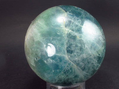 Gem Purple + Green Fluorite Sphere from China - 2.5 ""