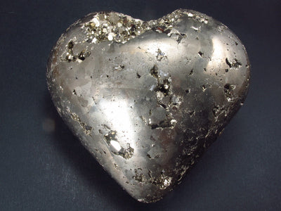 Pyrite Crystallized Carved Heart From Peru - 3.1""