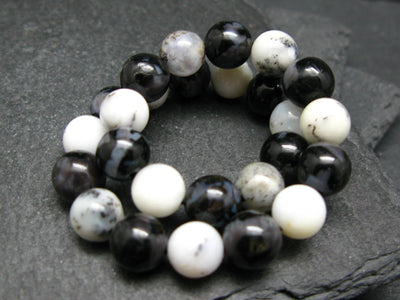 Merlinite and Mystic Merlinite Genuine Bracelet ~ 7 Inches ~ 8mm Round Beads