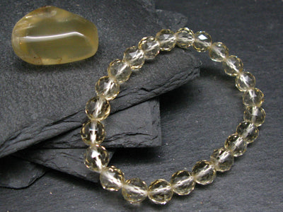 Bytownite Gold Labradorite Genuine Bracelet ~ 7 Inches ~ 8.5mm Round Facetted Beads