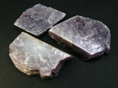 Lot of 3 Lilac Lepidolite Mica Crystal Stone (lithium-rich mica) from Brazil