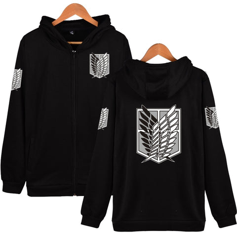 Attack on Titan: Hoodie Silver Logo Survey Corps - Otaku & WRLD™